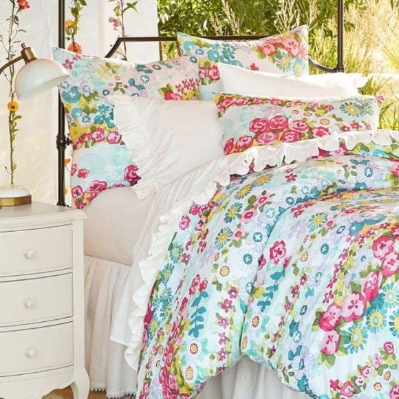 Pottery Barn Teen Bedding Pbteen Beautiful Blooms Duvet Cover